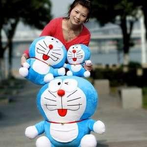 Big! Cute! Official Good Large Doraemon Plush Doll Toy 3 Pcs: Toys