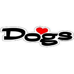 Imagine This 7 Inch by 2 Inch Car Magnet Word Shape, Love
