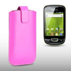 SAMSUNG GALAXY MINI S5570 PINK PU LEATHER CASE, BY