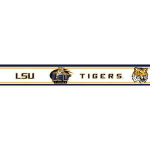 LSU Louisiana State Tigers Licensed Wallpaper Border