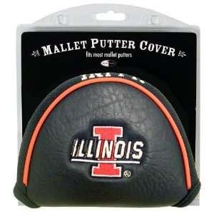 Illinois Illini Mallet Putter Cover Headcover Sports