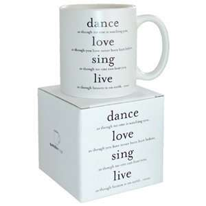Dance, Love, Sing   Unknown Mug  Kitchen & Dining