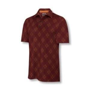 Adidas 2007 Mens ClimaCool Diamond Print Golf Polo Shirt