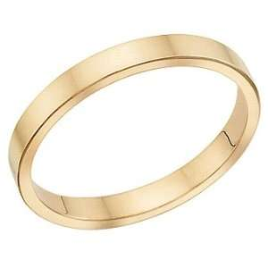 2.5 Millimeters Flat Yellow Gold Wedding Band Ring 18Kt