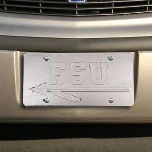 State Seminoles (FSU) Silver Mirrored License Plate