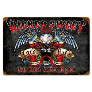 Wicked Sweet Miscellaneous Vintage Metal Sign   Garage Art