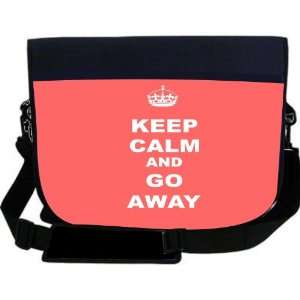 Keep Calm or Go Away   Tropical Pink Color NEOPRENE Laptop