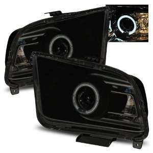 05 09 Ford Mustang Smoke LED Halo Projector Headlights