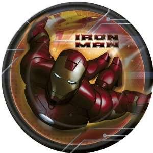 Iron Man 7 Round Party Dessert Paper Plates 8 ct Toys & Games