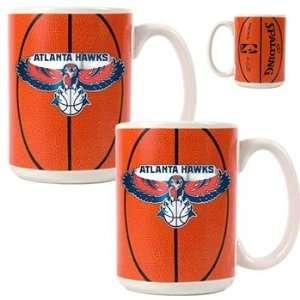 Atlanta Hawks NBA Ball Ceramic Coffee Mug Set Kitchen