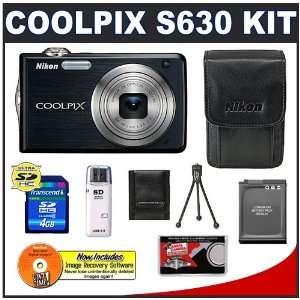 EN EL12 Battery + 4GB Card + Leather Case + Accessory Kit Camera