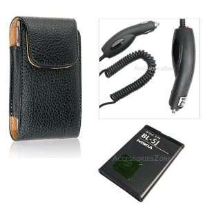 For Nokia 5800 XpressMusic Vertical Case + OEM BL 5J