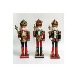 Multi Colored Wooden King Christmas Nutcrackers 15