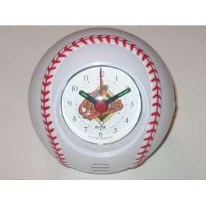 ORIOLES Team Logo Baseball Shaped ALARM CLOCK