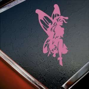 Fairy Faery Pink Decal Car Truck Bumper Window Pink