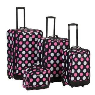 Piece Hot Pink / Lime Green Polka Dot Luggage Set