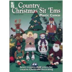 PLASTIC CANVAS COUNTRY CHRISTMAS SIT EMS LEAFLET BOOK