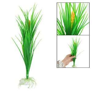 Como Fish Tank Decoration Green Plastic 13 Wheat Style