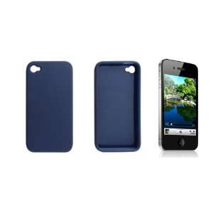 Gino Blue Rubberized Plastic Case Shield for Apple iPhone