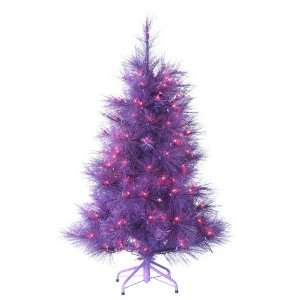 4 Pre Lit Purple Cashmere Pine Artificial Christmas Tree