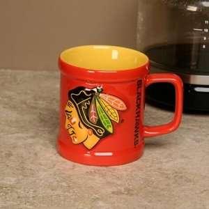 Chicago Blackhawks Red Sculpted Team Mug Sports