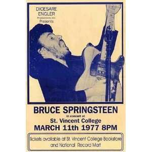 Bruce Springsteen (With Guitar, Concert) Music Poster