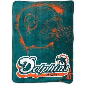 Dolphins Northwest NFL Micro Super Plush Throw Sports