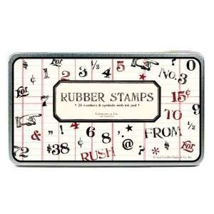 Rubber Stamp Set   Numbers and Symbols by Cavallini & Co