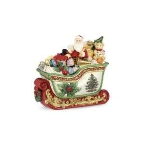 Spode Christmas Tree Prestige 2012 Santa Sleigh Cookie Jar