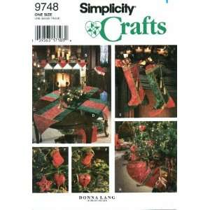 Sewing Pattern Christmas Tree Skirt Stocking Ornaments Table Runner
