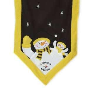 NFL Pittsburgh Steelers Snowman Christmas Table Runner on PopScreen d298985e4