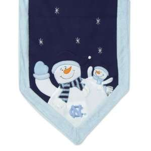 Tar Heels Snowman Christmas Table Runner