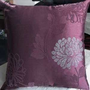 Decorative Palevioletred Floral Throw Pillow Cover