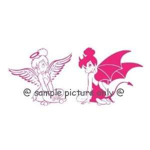 (1) Set   Tinkerbell Fairy Angel and Devil Window Car