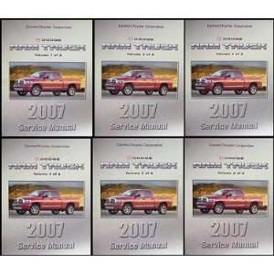 2007 Dodge Ram Truck Repair Shop Manual Original 6 Volume