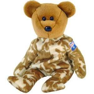TY Beanie Baby   HERO the Military Bear (Australia Exclusive Version)