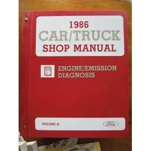 1986 Car / Truck Shop Manual Engine / Emission Diagnosis