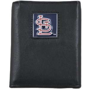 MLB St Louis Cardinals Black Tri fold Leather Executive Wallet Sports