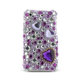 Purple Heart & Jewelry Full Diamond Back Piece Hard Cover