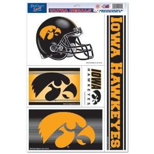 Iowa Hawkeyes Ultra Decal 11in x 17in Multi Logo:  Sports