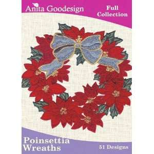 Goodesign Embroidery Designs Poinsettia Wreaths: Arts, Crafts & Sewing