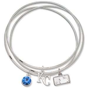 City Royals Ladies Spirit Crystal Bangle Bracelet Set Sports