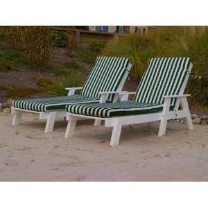PolyWood Captain Pool Cushion Patio Recycled Plastic