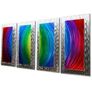 Red , Purple, Blue, Yellow, Green Wall Decor Fission   62x24 in