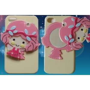 Mirror Luxury Designer Case with Cute Little Girl for Apple Iphone 4