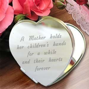 Personalized A Mothers Heart Compact Mirror Beauty