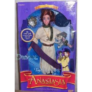 Anastasia doll   Together in Paris with Pooka the dog 1997