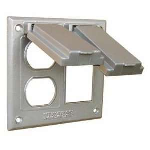 hubbell 5167 0 two gang weatherproof box mount cover gfci