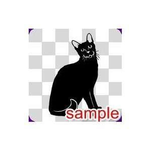 ANIMALS HALLOWEEN BLACK CATS 13 WHITE VINYL DECAL STICKER