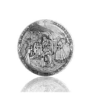 Christmas Plate Christ is Born by Wendell August Forge Home & Kitchen
